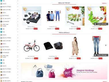 ecommerce website in opencart