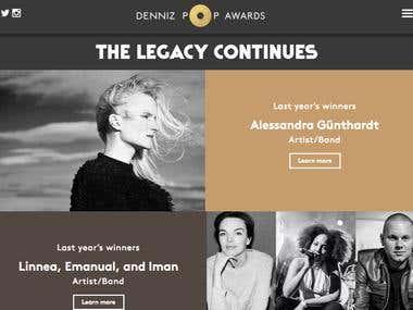 DENNIZ POP AWARD WEB DESIGN