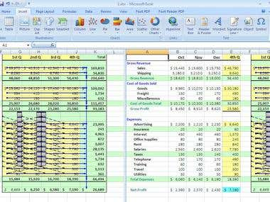 Show and tracing Formula Values in Excel datasheet