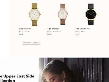 eCommerce store for women watches