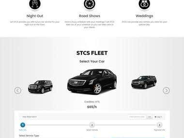 A website for Limo transportation services