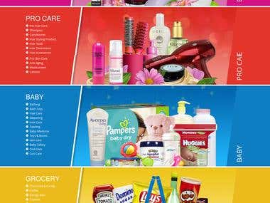 eCommerce website for health and beauty based products