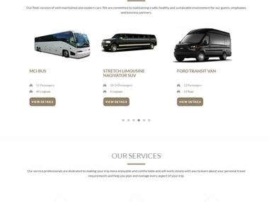 Website for limousine company!