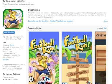 FootBall Run – AntiBall – Unity3D