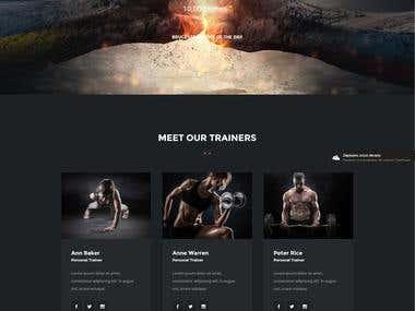 WEB Fitness Designe - Mockup PDS
