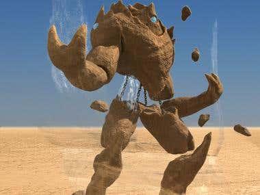 Sand stone golem