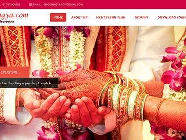 WordPress Website for Marriage Bureau