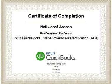 Certificate - Quickbooks Online ProAdvisor