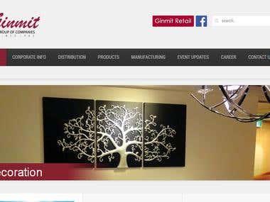 Ginmit Corporate Website