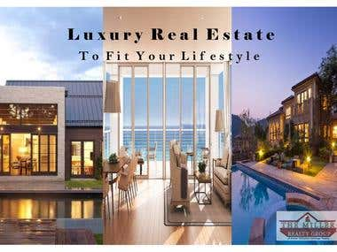 Real Estate Luxury Division Advertisement Post Card