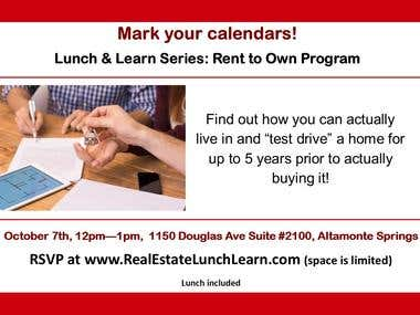 Rent to Own Lunch & Learn
