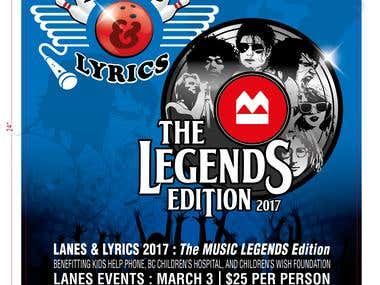 The Legends Edition - Logo and Poster Design