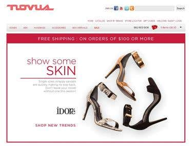 Manual as well as automation testing of www.novushoes.com