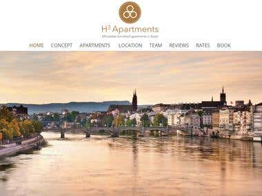 Swissline Property booking Website