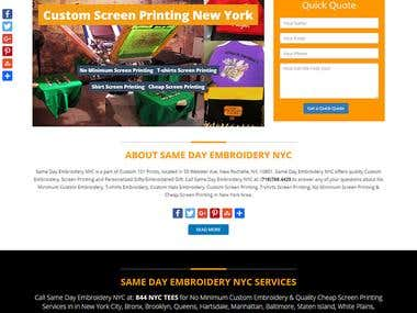 Embroidery & Screen Printing Company Website