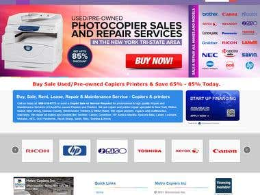 Copiers Printers Website Design & Development