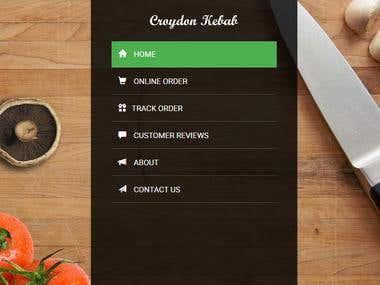 Croydon Kebab: Food Ordering Website