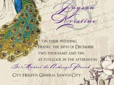 Sample layout for wedding invitation