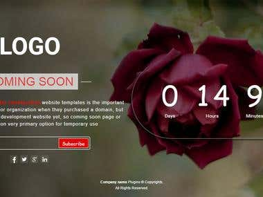 Web site countdown page (Under contraction)