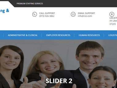 Website for Staffing Company