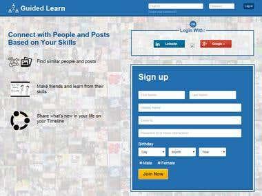 Guided Learn: Social Neteworking Website