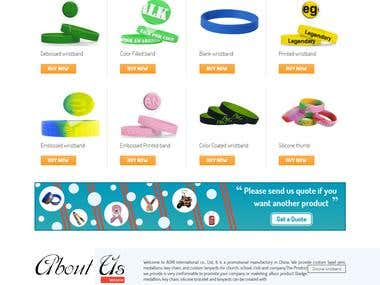 Wrist Band Pin: Custom Band eCommerce Website