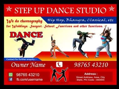 Banner Design for Dance Academy ( 8x5ft )