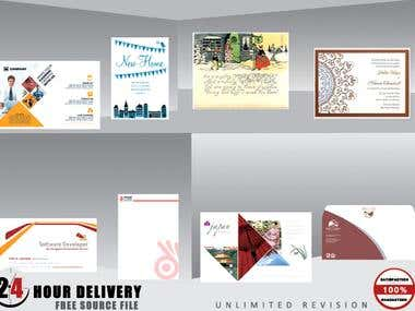 I will design business card, letterhead and stationary