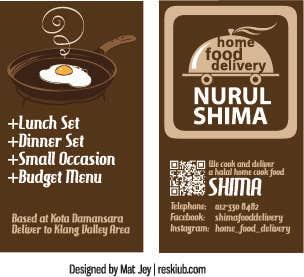 Shima Food - Business Card and Logo
