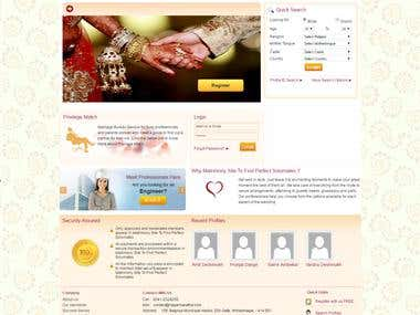 Matrimony Website