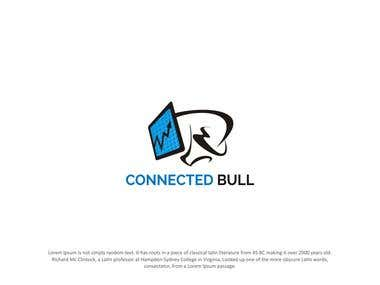 Connected Bull Logo Design