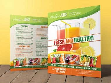 Juice Bar Flyer