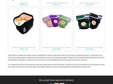 Responsive shopify website