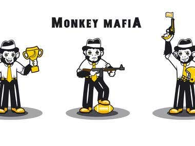 Mascot design for Monkey Mafia