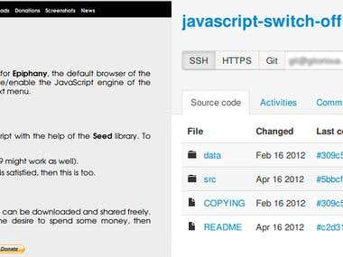 Browser extension in JavaScript