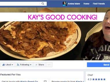 Social Media Marketing For KAY'S GOOD COOKING