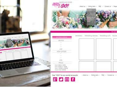 Wedding goods store website layout