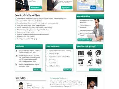 E-learning/education/tutor Portal Development