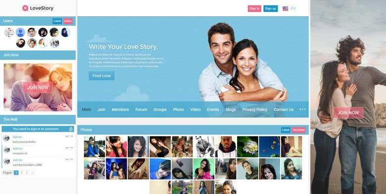 LoveStory-dating WordPress Theme