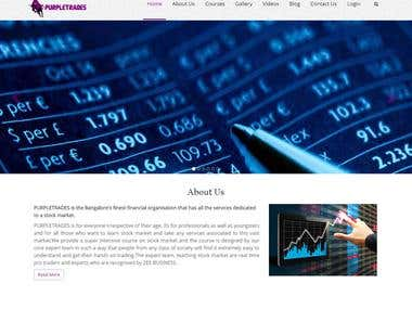 Share market Trading Course website