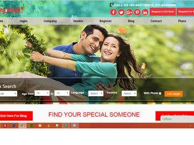 Matrimonial  and Vendor listing Site