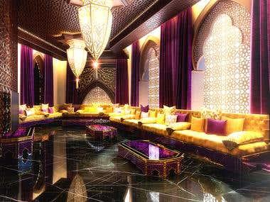 Moroccan style interior.