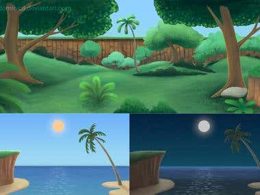 Backgrounds for 2D animation