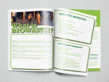 BIOWASTE 1 - News letter Design