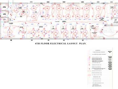 Commercial Building Electrical Layout Drawing