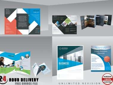 I will design professional BROCHURE,Flyer,Trifold,Book,PostC