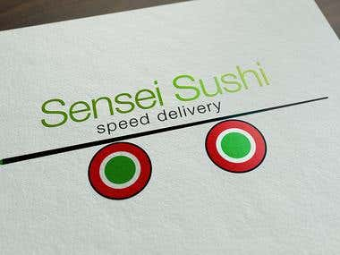 Logo for sushi delivery company