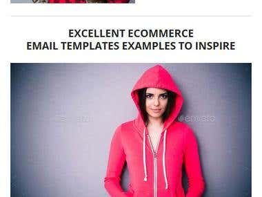 PSD Design For Email Newsletter Template