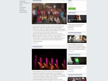Society web site design