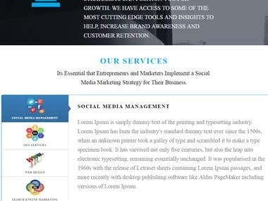 Web Template for Business site